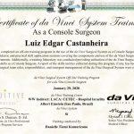 Dr. Luiz Edgar Castanheira recebe certificação para cirurgia robótica
